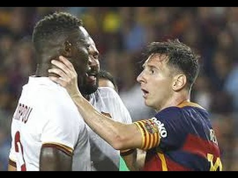best football fights amp angry moments cr7 lionel messi