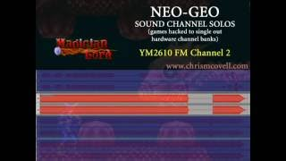 Neo-Geo sound channel solos - Magician Lord stg.1
