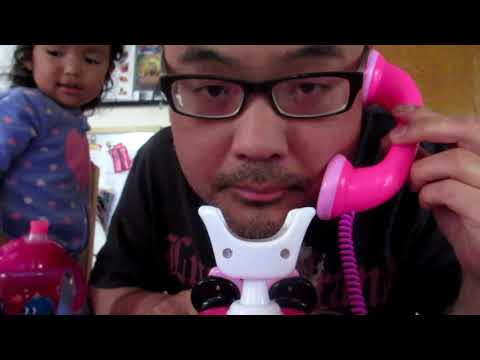 Calling Mini Mouse Using Minnie Happy Helpers Rotary Phone
