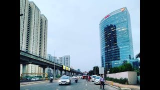 Driving in Gurgaon (Golf Course Road & Cyber City) 2019 - Haryana, India