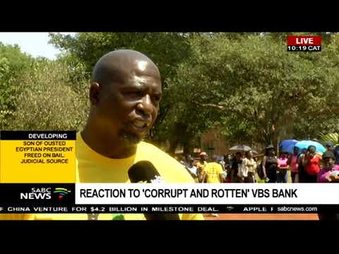 Reaction to 'corrupt and rotten' VBS Bank
