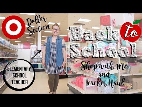 TARGET DOLLAR SPOT   BACK TO SCHOOL '18-'19   TEACHER SHOP WITH ME & HAUL!!!