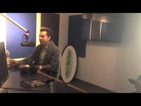 Ryan Cabrera Meets With 94.3 The Point's Laurie Cataldo