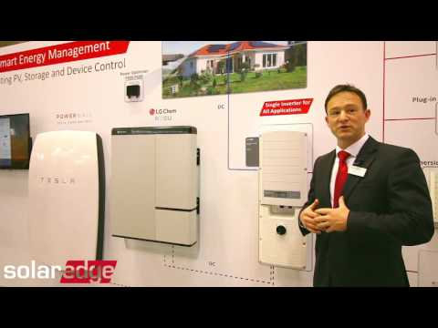 SolarEdge shows us the StorEdge™ solution from All Energy Australia at MCEC