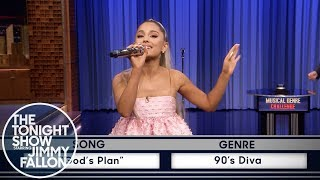 "Ariana Grande transforms Drake's ""God's Plan"" into an epic '90s div..."