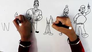 Draw WINTER ( Wordtoon  )||Motu Patlu Kids Drawing ||