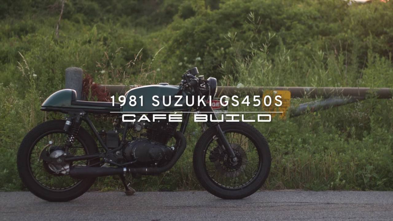 café racer 1981 suzuki gs450s build video and photos of custom