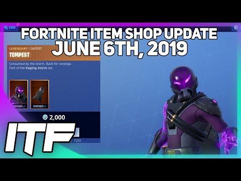 Fortnite Item Shop *NEW* TEMPEST AND BOLT SKIN SET! [June 6th, 2019] (Fortnite Battle Royale)