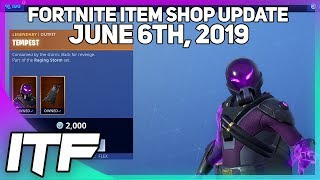 Fortnite Item Shop *NEW* TEMPEST AND BOLT SKIN SET! [June 6th, 2019] (Fortnite Battle Royale)