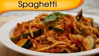 Spaghetti In Marinara Sauce - Main Course Noodles Recipe By Ruchi Bharani