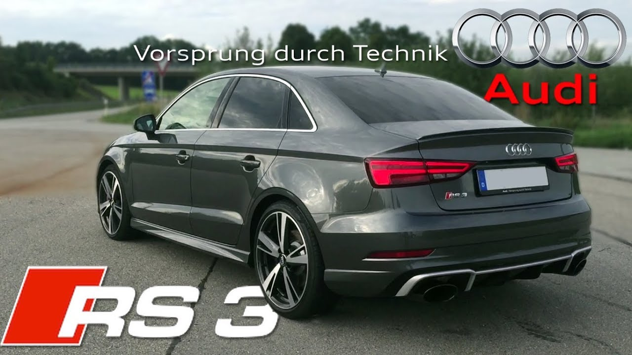 2018 Audi Rs3 Sedan 400hp Pure Sound Youtube