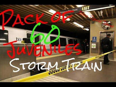 Pack of 60 Juveniles Storm Train Station Rob Passengers Oakland California