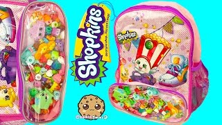 Unboxing 5 Shopkins Pack Each with Blind Bags in Surprise Backpack - Cookieswirlc Video