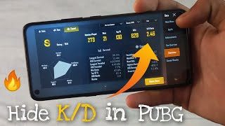 How to Hide KD Ratio in PUBG Mobile | PUBG KD Ratio Kaise Hide Kare  2020 in Hindi