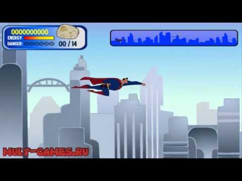 Онлайн игры Полёт Супермена
