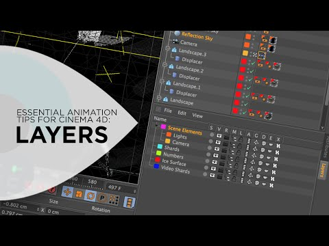 Cinema 4D Tutorial - Using Layers to Improve Your Workflow in Cinema 4D