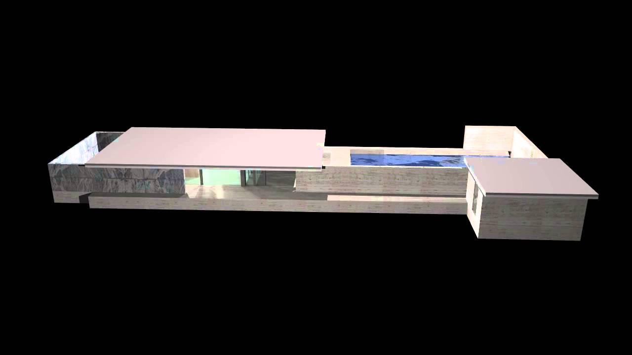 Pavillon Bruchsal Modell : Barcelona pavilion d model youtube