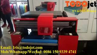 TODOjet Desktop UV printer with various applications---small machine creat big business