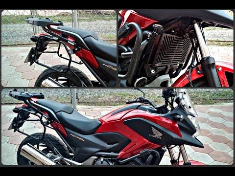 Установка кофров и защиты радиатора на Honda NC750X