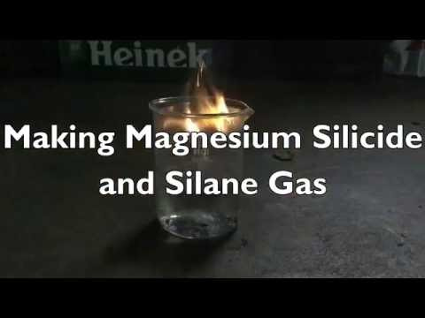 Make Magnesium Silicide And Silane Gas (Pyrophoric)