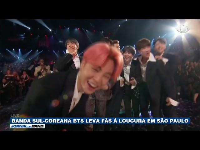 Banda sul-coreana BTS leva fãs à loucura em São Paulo