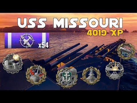 USS MISSOURI || 4019 XP - 268K DMG || World of Warships