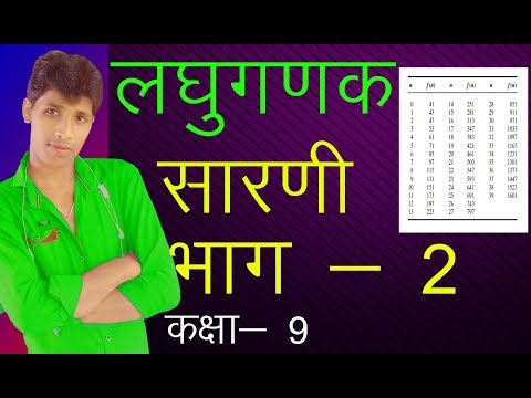लघुगणक भाग - 2 कक्षा - 9 u.p. board in hindi By ANIL KUMAR YADAV SURAJ