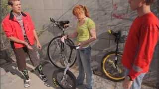 Уницикл, экстрим на одном колесе. Unicycle, extreme on one wheel. ПроSport #1. Актау