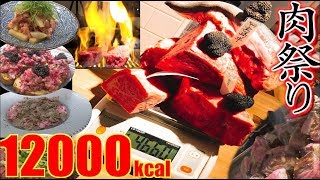 "【MUKBANG】 Meat ""World Tour""!! [40 Servings] 4.6Kg  [About 12000kcal] The INNOCENT CARVERY [Use CC]"
