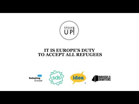Speak Up! - Does Europe have a moral duty to accept all refugees?