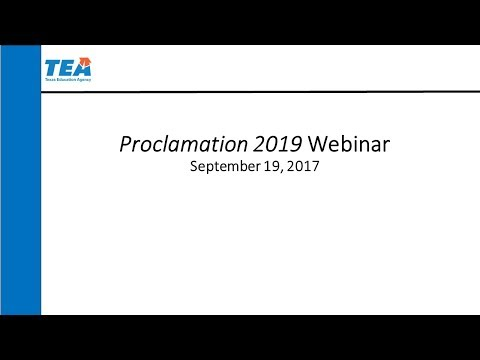 Proclamation 2019 Publisher Webinar–September 19, 2017