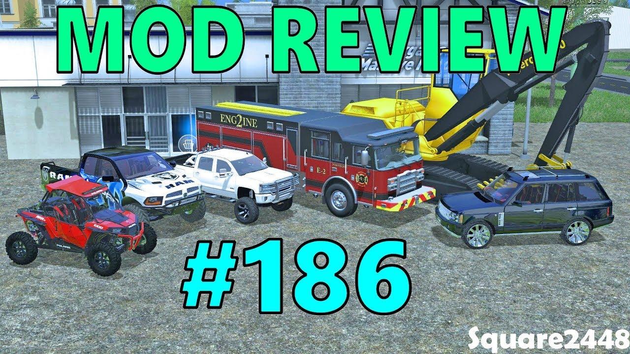 Farming Simulator 17 Mod Review #186 Polaris, Ram Runner, Chevy 1500, Fire  Engine & More! by Square2448
