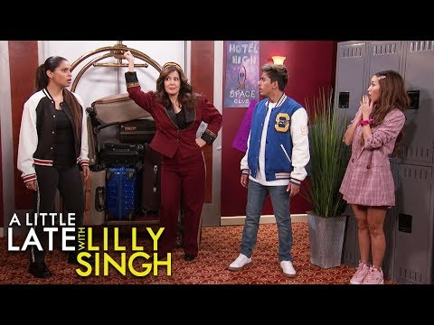 Watch Brenda Song Channel London Tipton For a Disney Channel Spoof With Lilly Singh