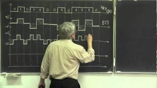 Лекция 228. Кодирование битов при последовательной передаче(Рассмотрено несколько способов формирования физического сигнала( напряжения) для последовательной переда..., 2015-03-14T19:28:44.000Z)
