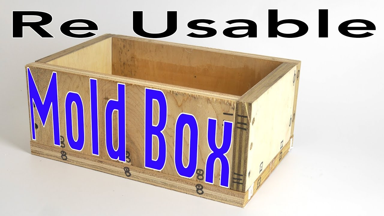 Reusable plywood Mold Boxes for Silicone molds & Casting Urethane parts