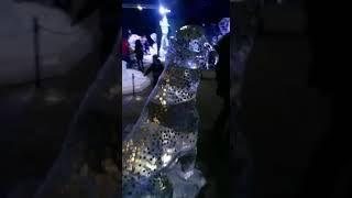 Ледовая собака с пожеланиями.ice fantasy фестиваль ледовых скульптур 2018.#пораналёд