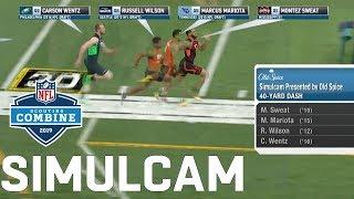 40-Yard Dash Simulcam: Sweat vs. AB, OBJ, & Zeke   Nick vs. Joey Bosa & More!