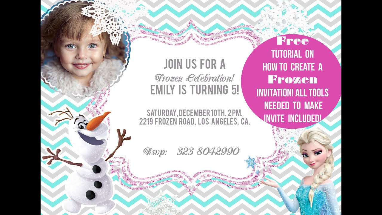 How To Make An Invitation FROZEN Themed YouTube - Birthday invitation frozen theme