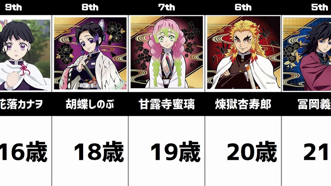 鬼 滅 の 刃 年齢 鬼滅の刃のキャラクターの年齢、身長、体重、誕生日の一覧!