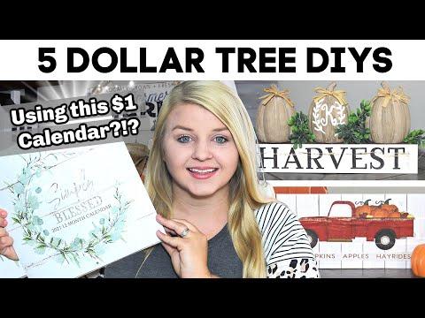 5 Dollar Tree DIYS Using This $1 CALENDAR?!? | NEW DIY Dollar Tree Fall 2020 | Krafts By Katelyn