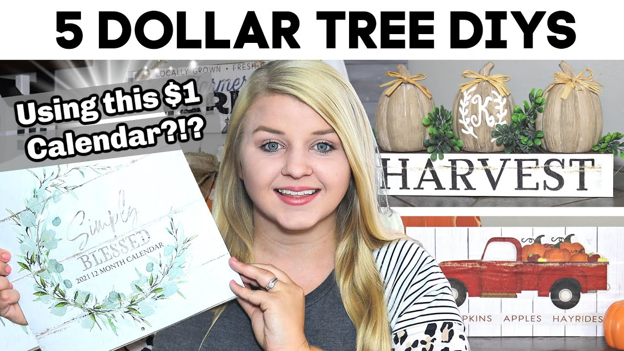 5 Dollar Tree Diys Using This 1 Calendar New Diy Dollar Tree Fall 2020 Krafts By Katelyn Youtube