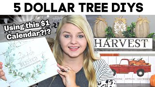 5 Dollar Tree DIYS Using This $1 CALENDAR?!? | NEW DIY Dollar Tree Fall 2020 | Krafts by Katelyn