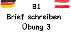 Brief Schreiben B1 B1 نامه نمونه