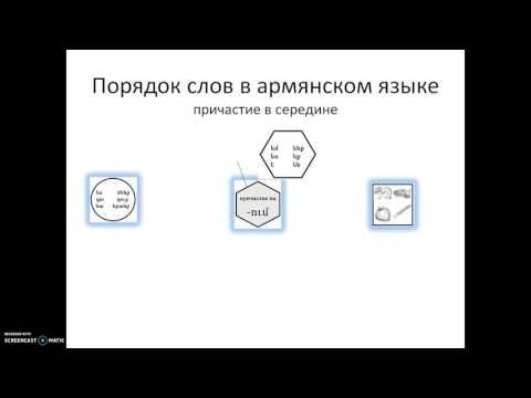 Армянский язык онлайн: порядок слов