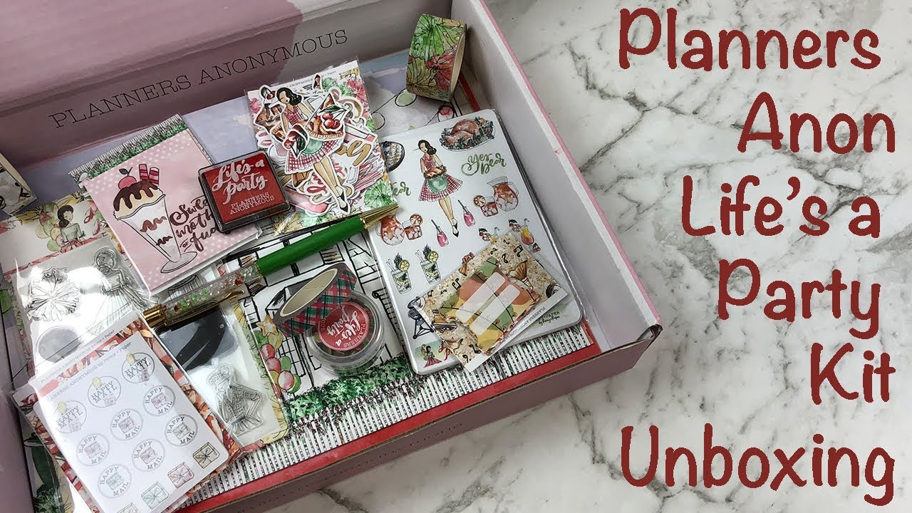 Planners anonymous unboxing and walkthrough life 39 s a for Planners anonymous