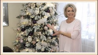 Decorate With Me - Christmas Tree 2017 (Blush Pink)  / How To Flock Your Christmas Tree
