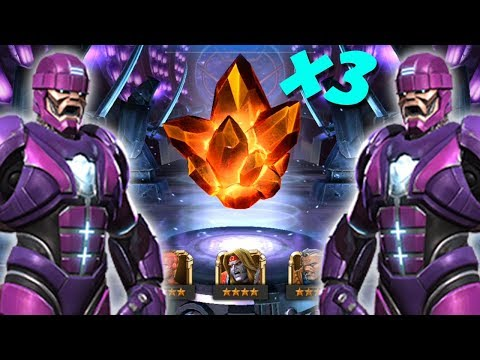 Triple 4 Star Crystal Opening | Hunting Sentinel: Marvel Contest Of Champions