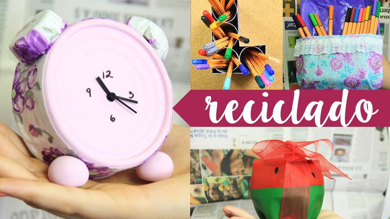 con material reciclado megatuto especial craftingeek youtube