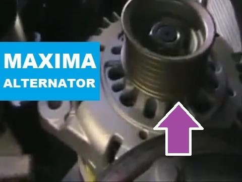 hqdefault nissan maxima infiniti alternator replacement youtube 1997 nissan maxima alternator wiring harness at eliteediting.co