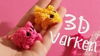 Rainbow Loom,  3D Varken, Monster Tail Charm Nederlands